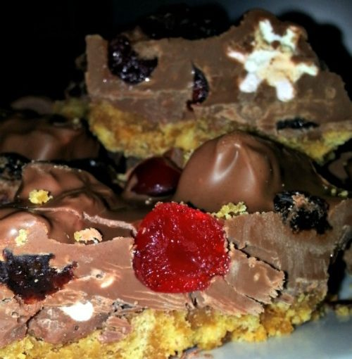 Naughty but Nice Rocky Road Biscuit Bites recipe