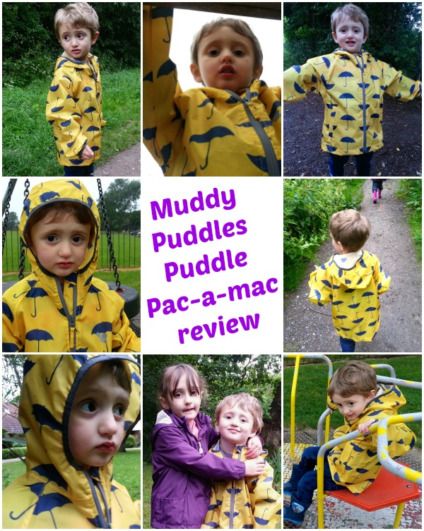Muddy Puddles, Puddle Pac--mac, collage, raincoat