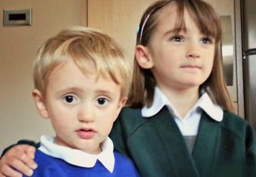 Children in school uniform, school uniform shopping, back to school