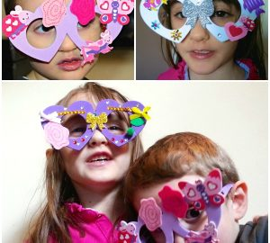 heart foam glasses, Baker Ross, arts and crafts