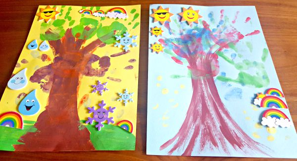 Handprint trees, Baker Ross, arts and crafts