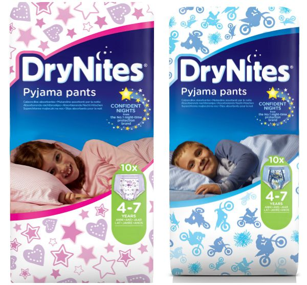 DryNites, pyjama pants, bedwetting, Confident Kids 24/7