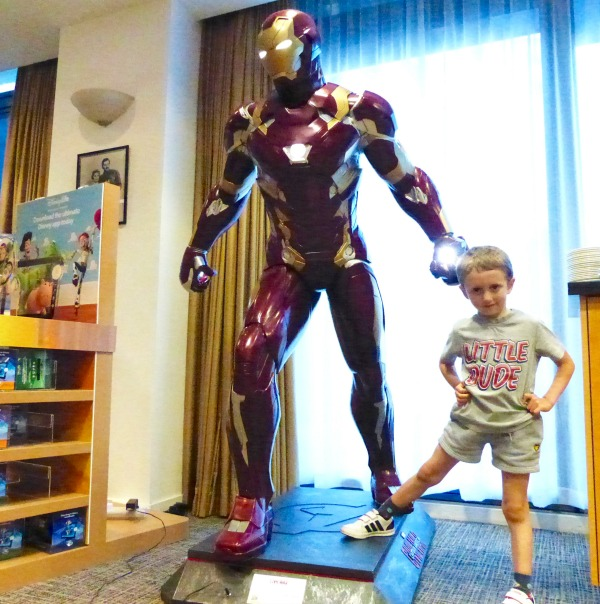 Boy with Iron Man
