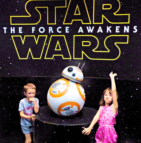 Children with Star Wars BB8