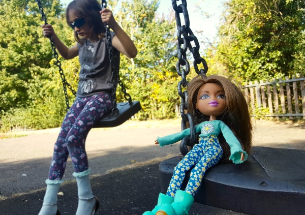 Girl and Bratz Remix Yasmin Doll on Swings
