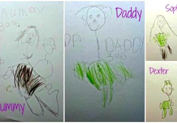 Family portraits, drawing