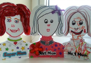 Mother's Day cards, Baker Ross, Mum Colour-in Cards